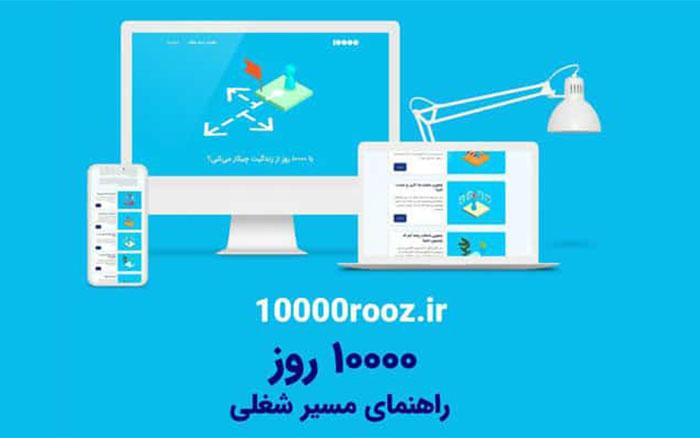 راهاندازی وبسایت ۱۰۰۰۰ روز، راهنمای جامع مسیر شغلی