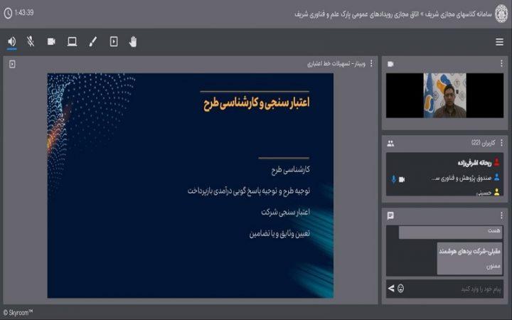 گزارش وبینار «معرفی خدمات سرمایهگذاری و تسهیلات صندوق پژوهش و فناوری سپهر»